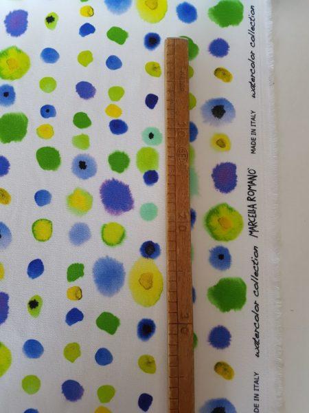 tessuto san gallo cotone stampato made in italy - Vendita al metro - Marcella Romanò