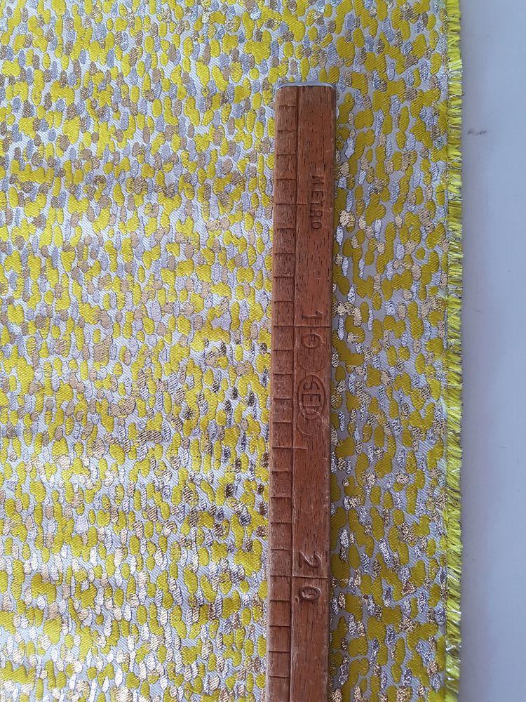 tessuto made in Italy jacquard lame oro argento giallo vendita al metro
