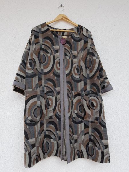 cappotto jacquard made in Italy delaunaymotivo cerchi acquisto on line