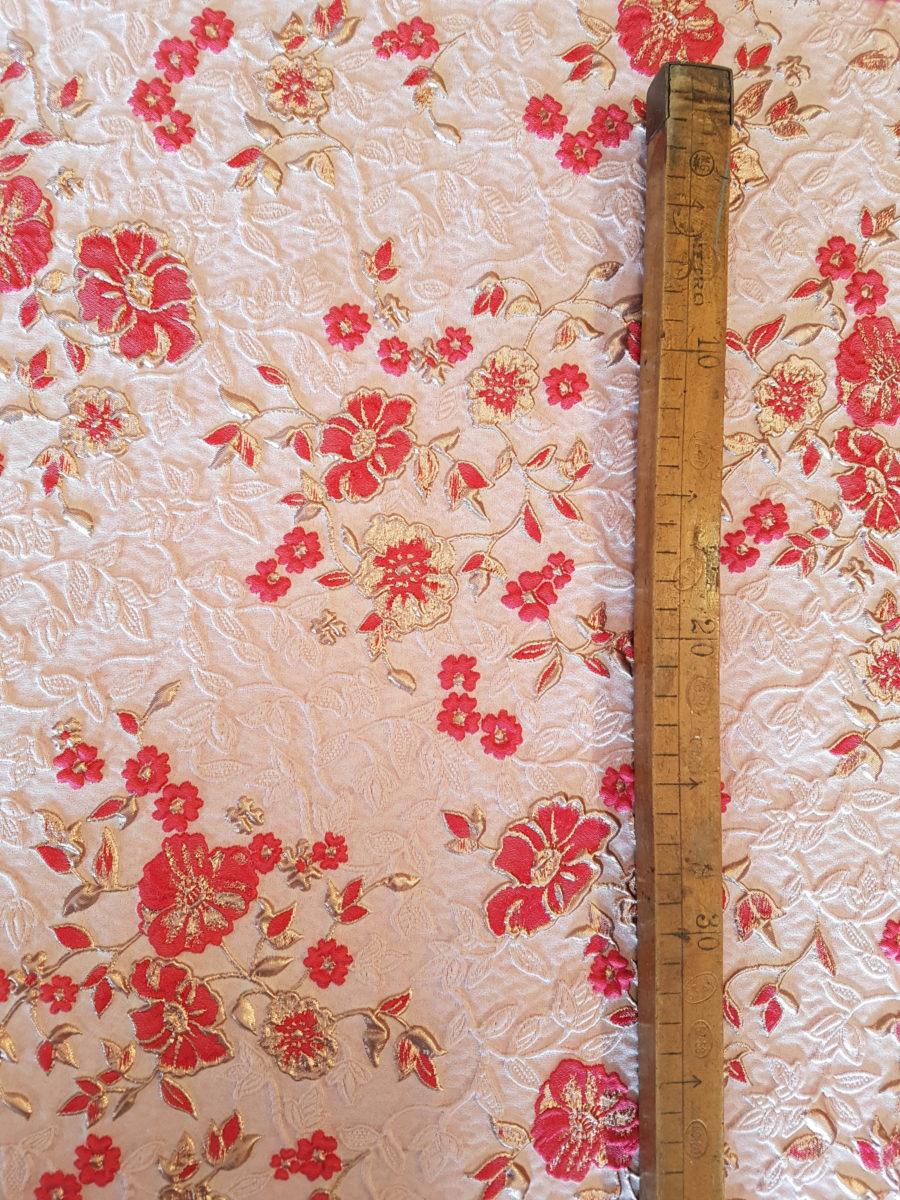 delicate flowers tessuto vendita al metro jacquard lame made in italy