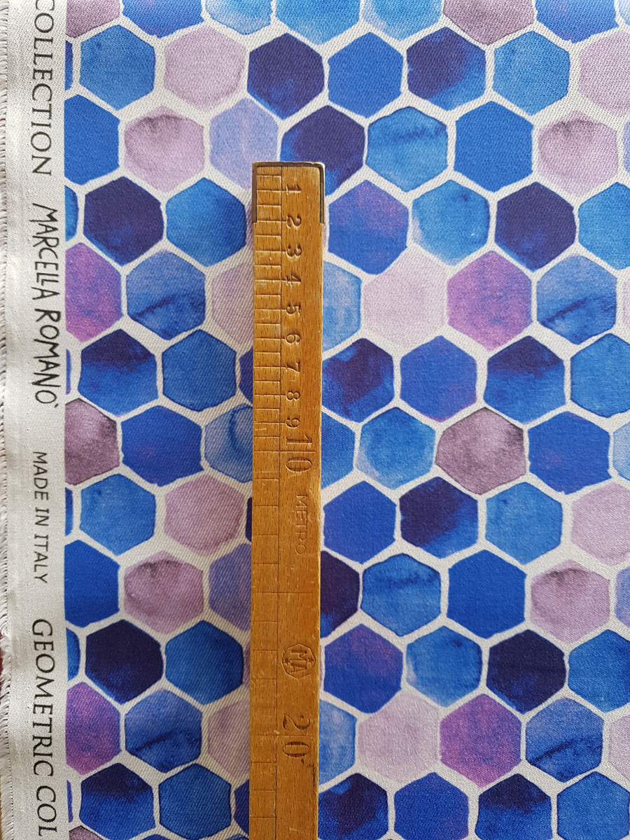 geometric jeans made in italiy cotone elastam stampato