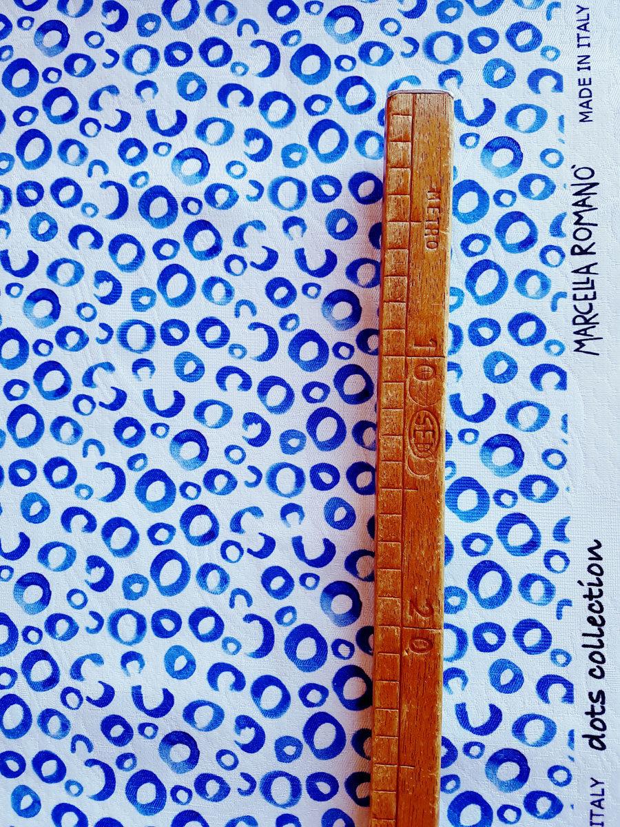 dots-blu- MADE IN ITALI- JACQUARD DI COTONE